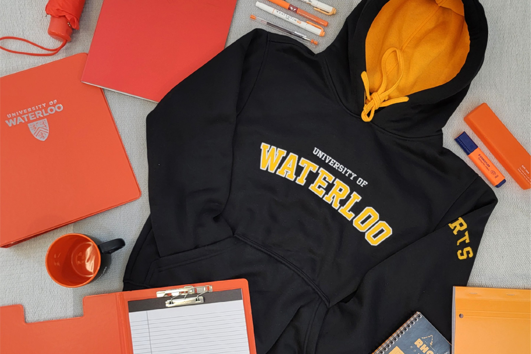Arts faculty apparel and orange items
