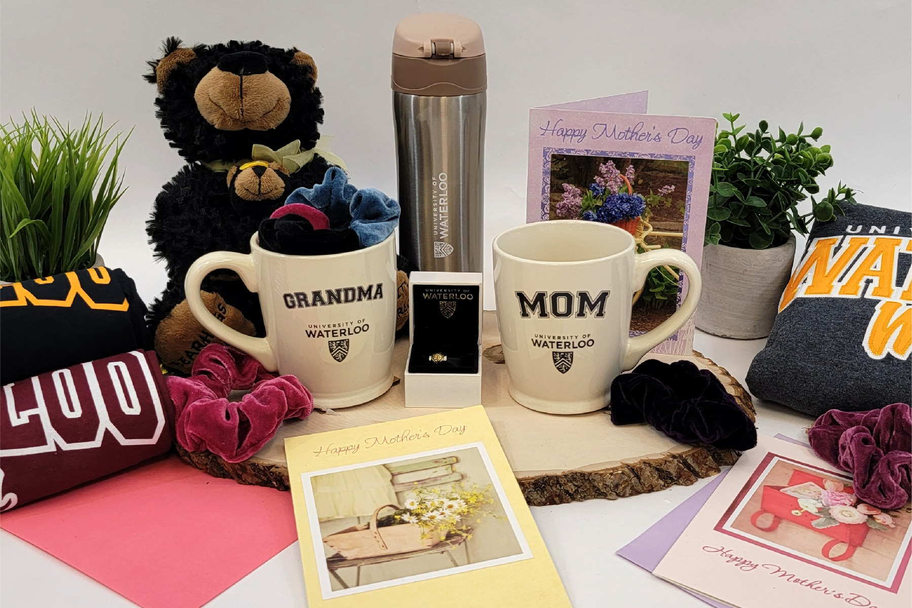 Mother's Day cards and assorted gifts for mom