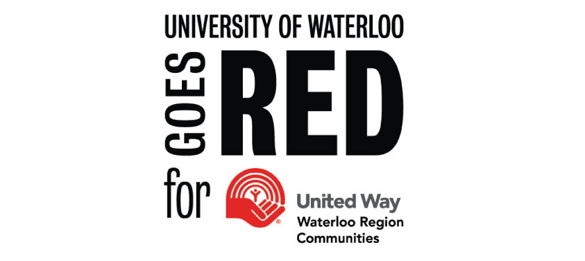 United Way logo with text UWaterloo Goes Red