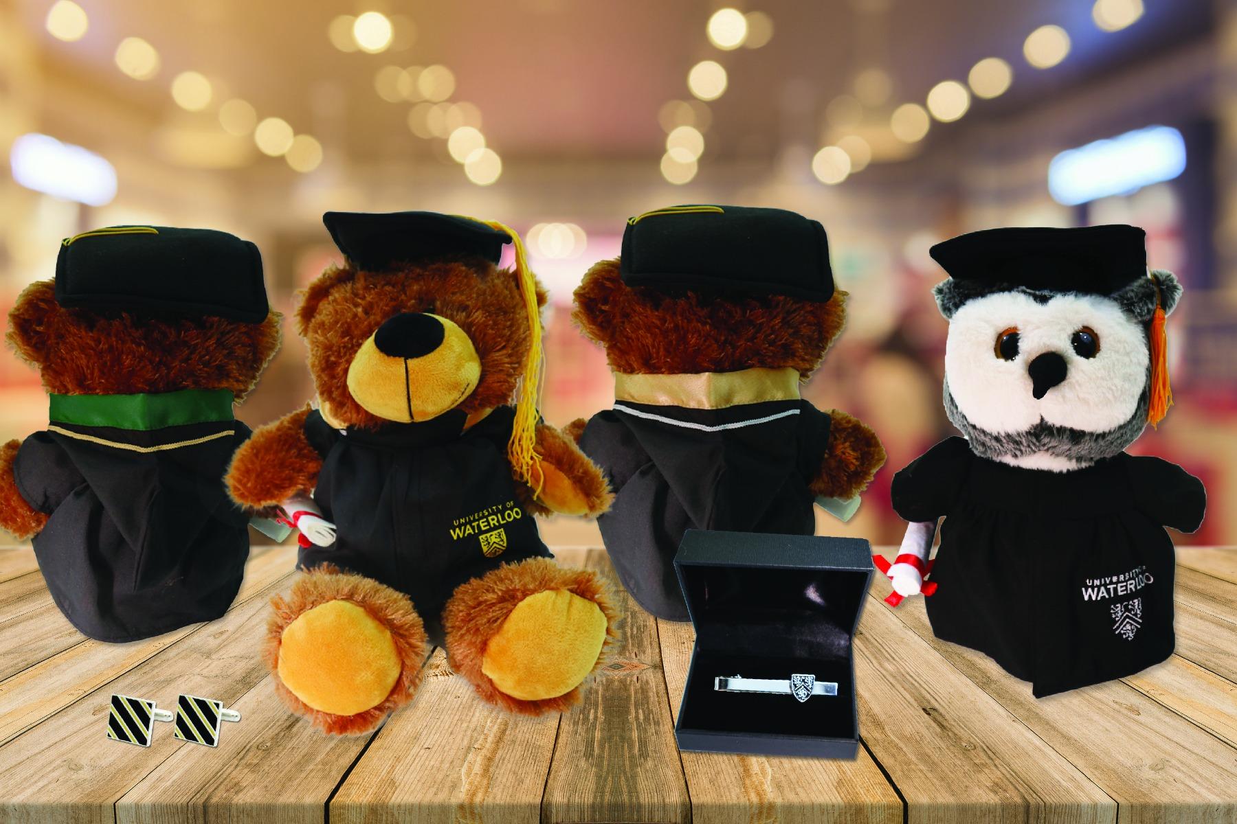 Grad Bears, tie clip and cufflinks